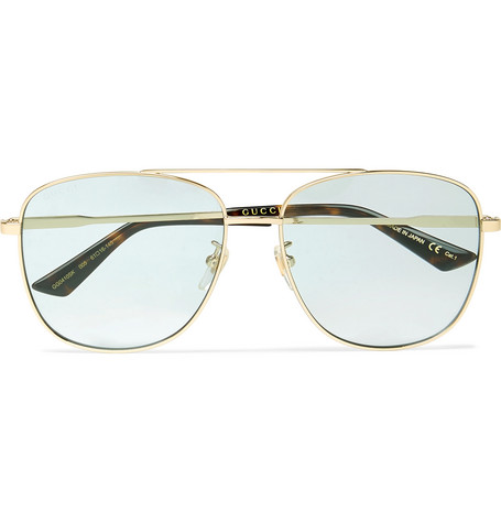 Gucci – Aviator-style Gold-tone And Acetate Sunglasses – Gold