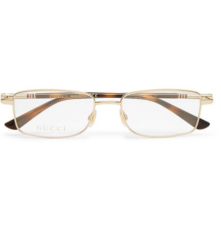 f80f1f8e0b Gucci - Square-Frame Gold-Tone Optical Glasses