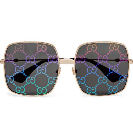 Gucci – Square-frame Gold-tone Sunglasses – Gold