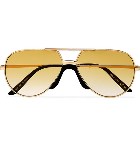 9aeaf17209f2 Gucci Aviator-Style Gold-Tone Sunglasses - Gold - One Siz