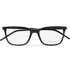 Saint Laurent - Square-Frame Acetate and Silver-Tone Optical Glasses