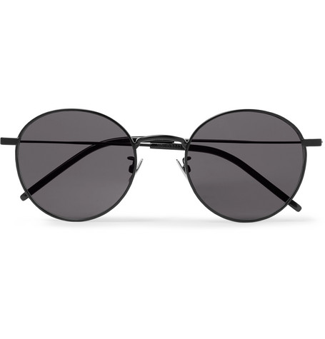 db34038bb77 Saint Laurent - Round-Frame Metal Sunglasses