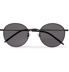 Saint Laurent Round-Frame Metal Sunglasses