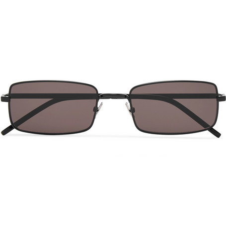 d2f7dc7adc4 Saint Laurent - Square-Frame Matte-Metal Sunglasses