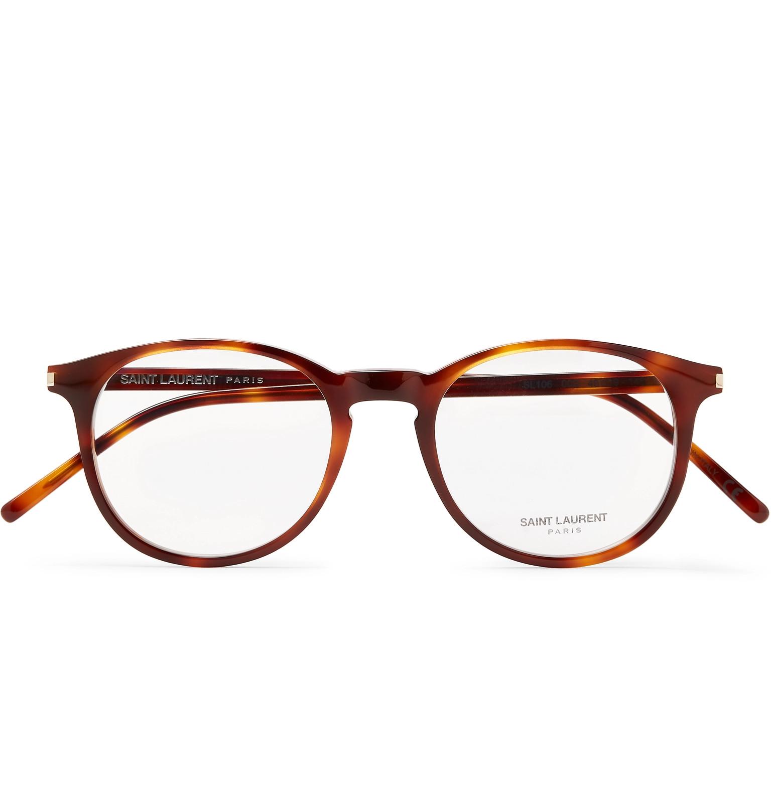 dfba5ba8c5a Saint Laurent - Round-Frame Tortoiseshell Acetate Optical Glasses