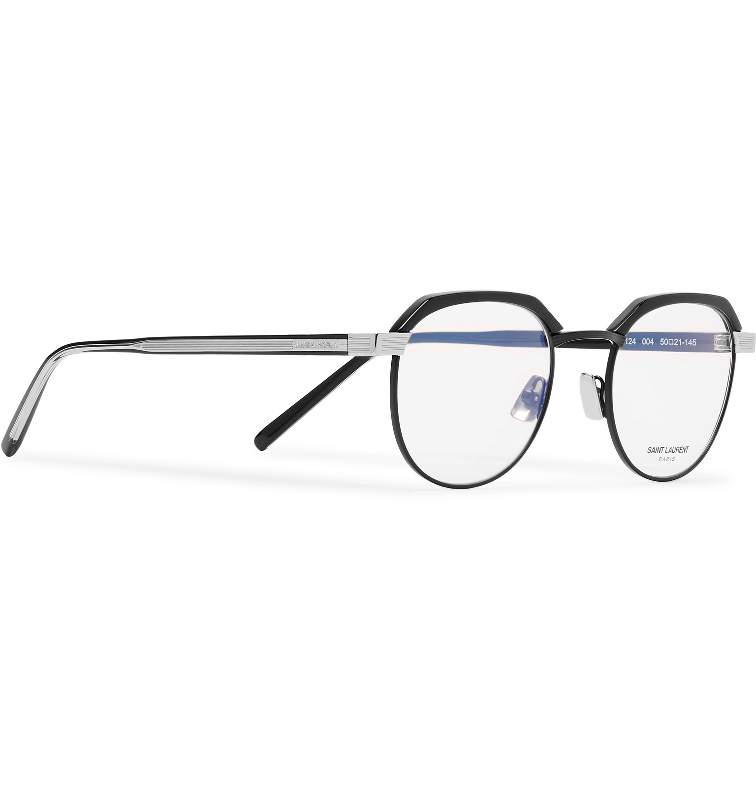 2918e34ed1 Saint Laurent - Round-Frame Acetate and Silver-Tone Optical Glasses