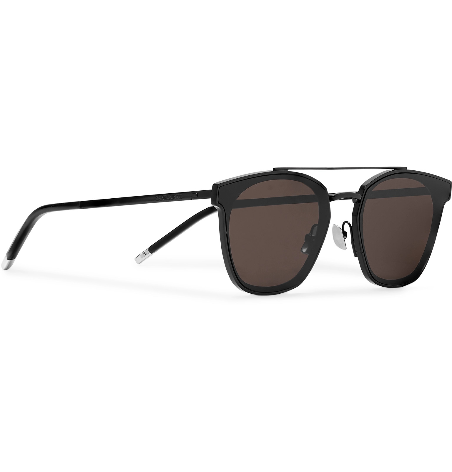 7e01fdb5ca SAINT LAURENT - Aviator-Style Black Metal Sunglasses