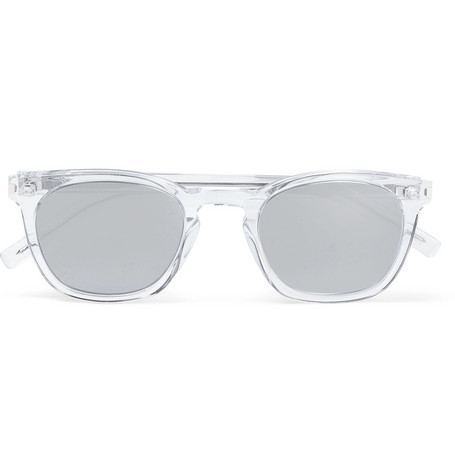 Saint Laurent – Square-frame Acetate Mirrored Sunglasses – Clear