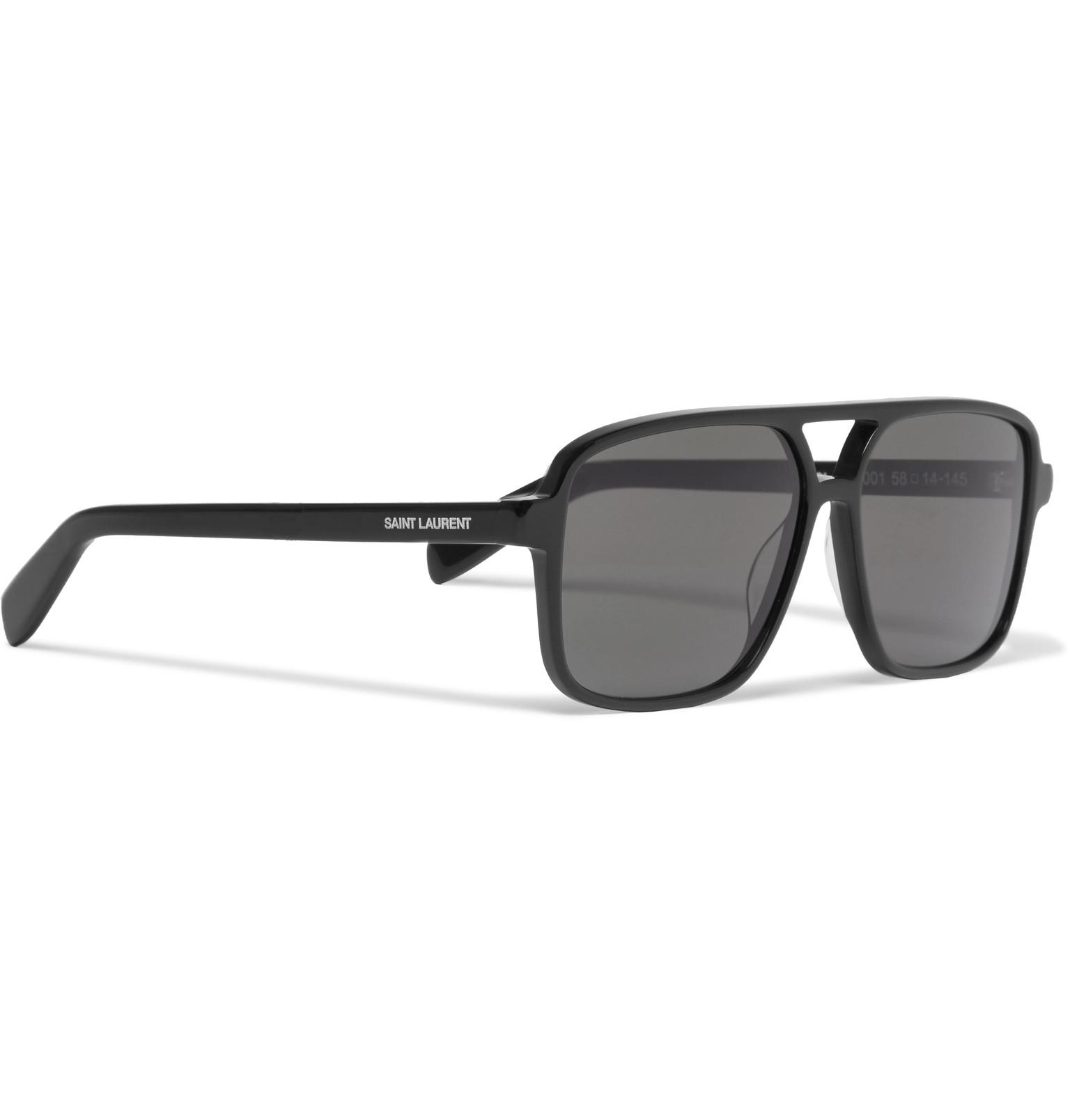 Style Saint Sunglasses Acetate Aviator Laurent xqwFwYzv