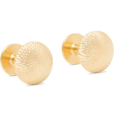Alice Made This James Brushed Gold-Plated Cufflinks