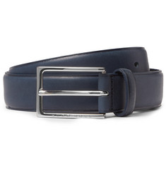 Hugo Boss 3.5cm Navy Ceddy Leather Belt