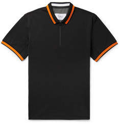 Aztech Mountain Roaring Fork Contrast-Tipped Stretch-Piqué Polo Shirt