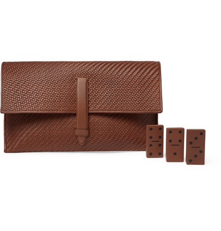 Ermenegildo Zegna PelleTessuta Leather Domino Set