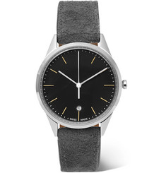 Uniform Wares - C36 Stainless Steel And Suede Watch