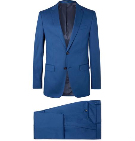 Blue Novan/Ben Slim Fit Stretch Cotton Suit by Hugo Boss