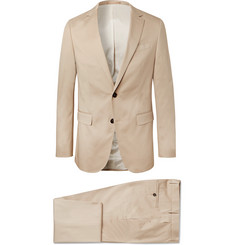Hugo Boss Beige Novan/Ben Slim-Fit Cotton-Blend Twill Suit