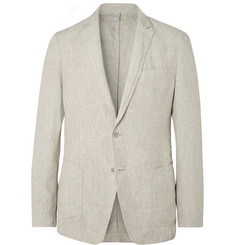 Hugo Boss - Beige Hanry Slim-Fit Unstructured Linen Suit Jacket