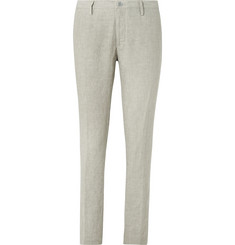 Hugo Boss - Beige Stanino Slim-Fit Linen Suit Trousers