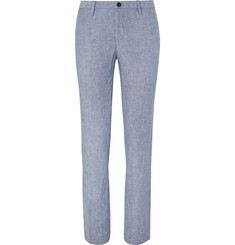 Hugo Boss Light-Blue Stanino Slim-Fit Linen Suit Trousers