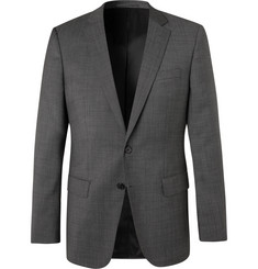 Hugo Boss Grey Huge/Genius Nailhead Virgin Wool Suit Jacket