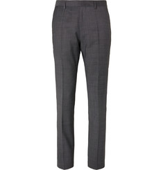 Hugo Boss Grey Huge/Genius Nailhead Virgin Wool Suit Trousers