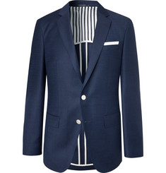 Hugo Boss Dark-Blue Hartlay Wool Blazer