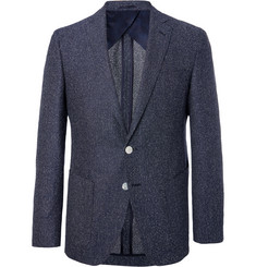 Hugo Boss Navy Raye Slim-Fit Unstructured Tweed Blazer