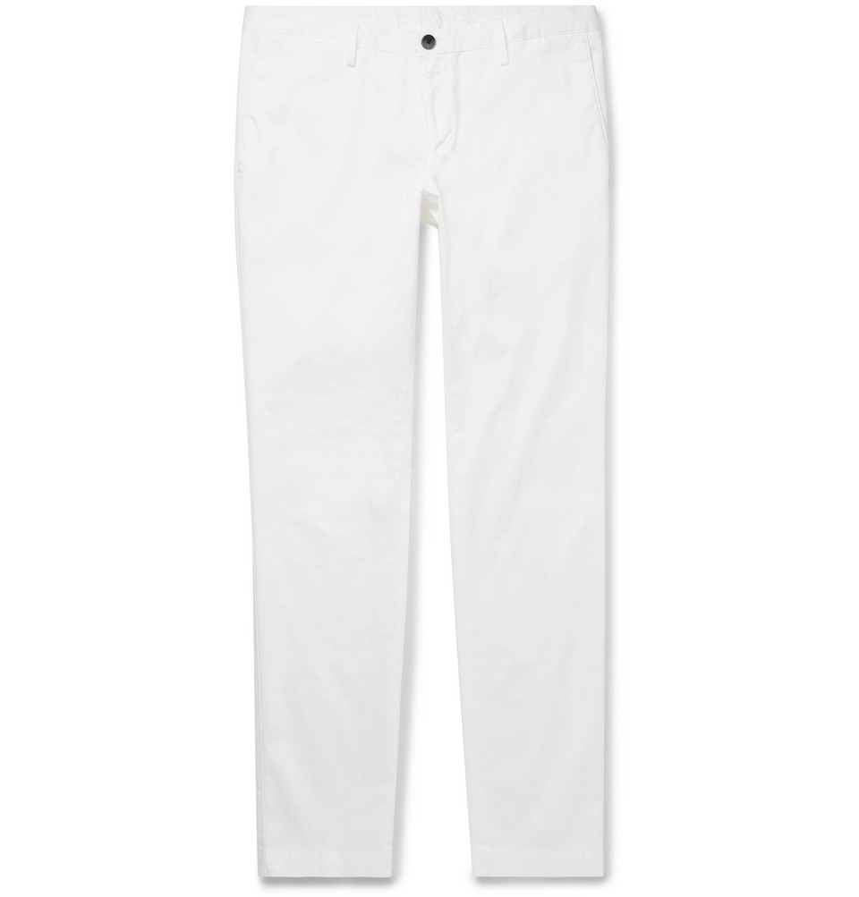 Hugo Boss Stanino Slim-Fit Cotton-Blend Twill Chinos
