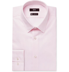 Hugo Boss - Pink Elliott Striped Cotton Shirt