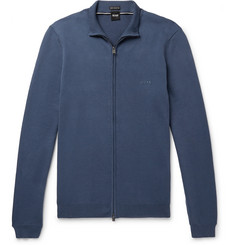 Hugo Boss Palano-L Cotton Zip-Up Cardigan