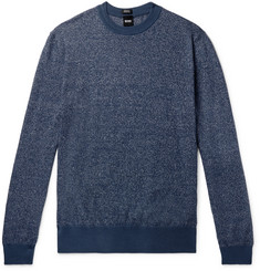 Hugo Boss Franio Mélange Cotton and Linen-Blend Sweater