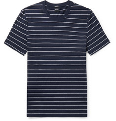 Hugo Boss Tiburt Striped Linen and Cotton-Blend T-Shirt