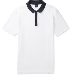 Hugo Boss Honeycomb Cotton Polo Shirt