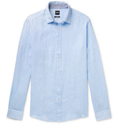Hugo Boss Lukas Linen-Chambray Shirt