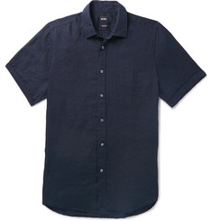 Hugo Boss Luka Garment-Dyed Linen Shirt