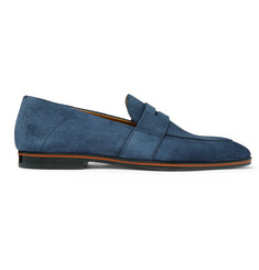 Hugo Boss Safari Suede Penny Loafers