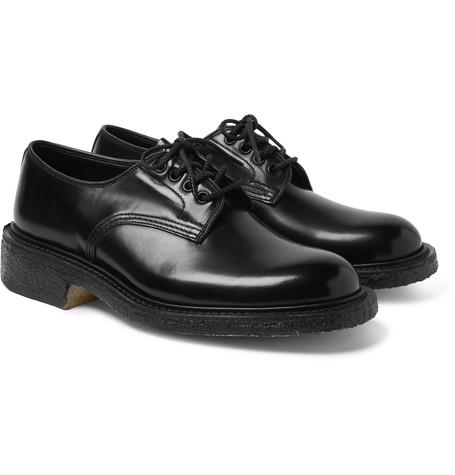 Daniel Leather Derby Shoes - Black