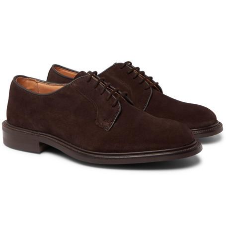 Robert Suede Derby Shoes - Dark brown
