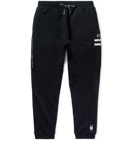 111d5ce1e Moncler Genius - 7 Moncler Fragment Slim-Fit Tapered Appliquéd Printed  Loopback Cotton-Jersey Sweatpants