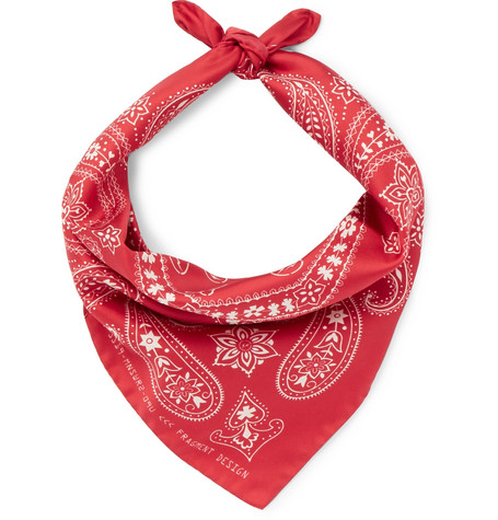 Moncler Genius Accessories 7 MONCLER FRAGMENT PRINTED SILK-TWILL BANDANA - RED - ONE SIZ