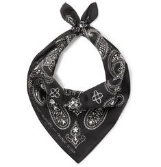 7 Moncler Fragment Printed Silk-twill Bandana - Black
