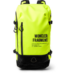 Moncler Genius 7 Moncler Fragment Suede-Trimmed Fluorescent Shell Backpack