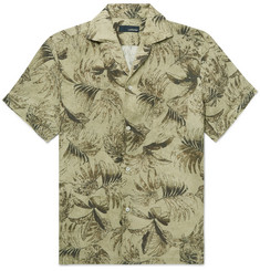 Lardini - Camp-Collar Printed Linen Shirt