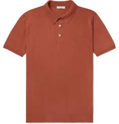 Boglioli Slim-Fit Garment-Dyed Cotton Polo Shirt