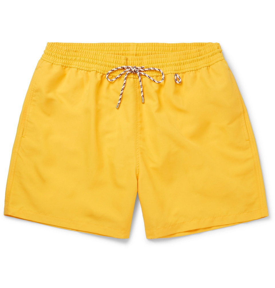 Mid-length Swim Shorts - Yellow