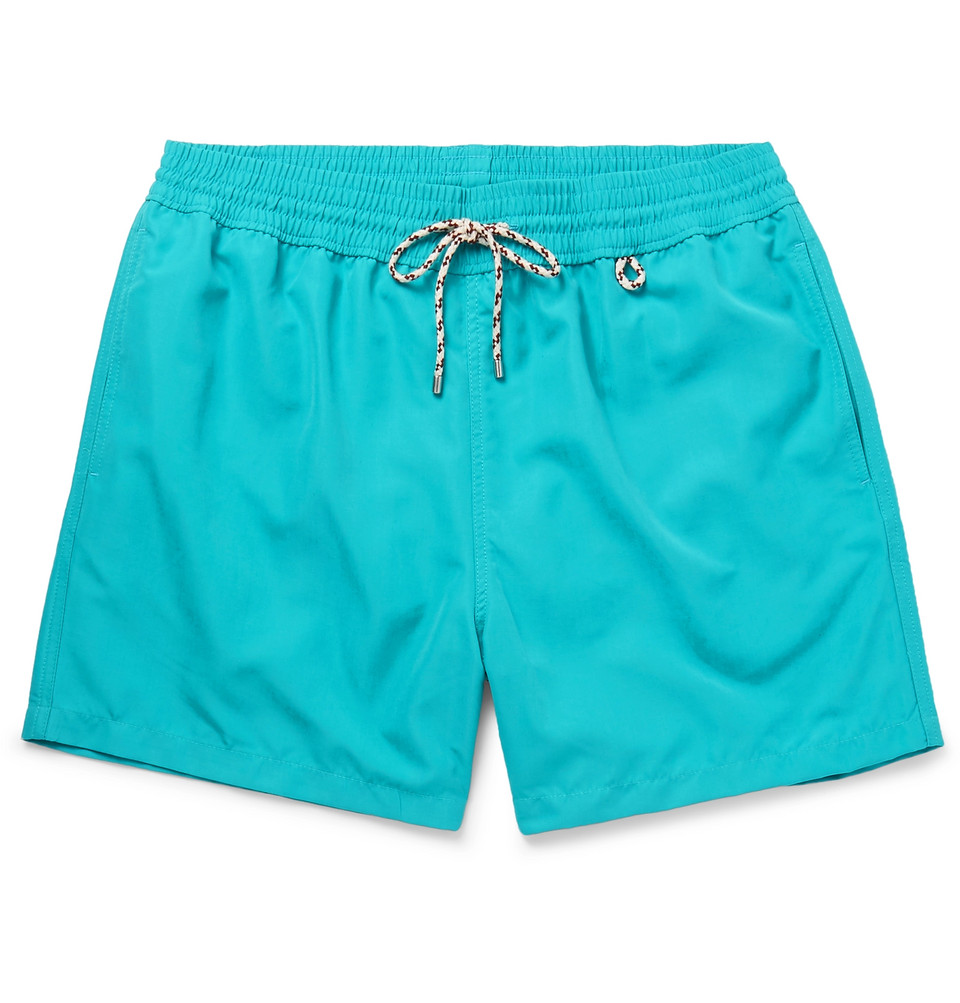 Mid-length Swim Shorts - Turquoise