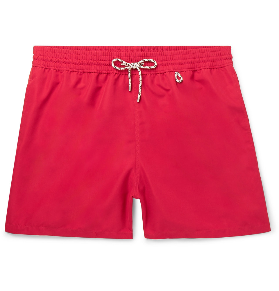 Mid-length Swim Shorts - Red