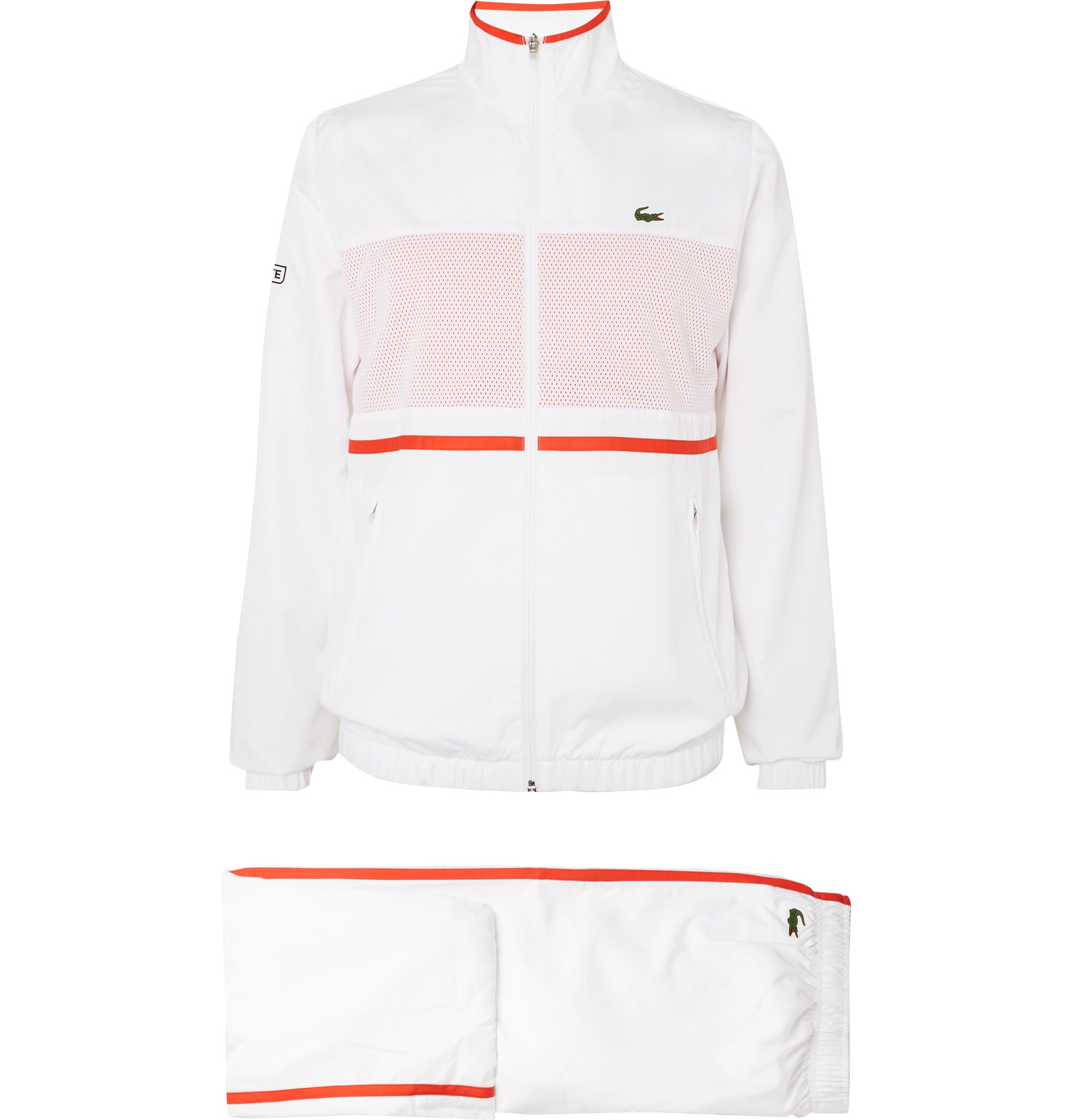 5dd219b70a0f Lacoste Tennis - Striped Shell and Mesh Tennis Tracksuit