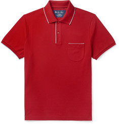 Loro Piana Regatta Contrast-Tipped Stretch-Cotton Piqué Polo Shirt