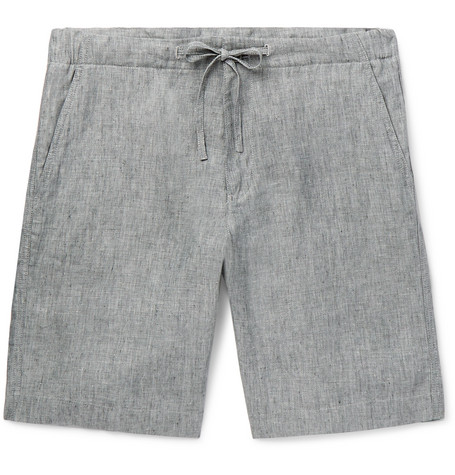 Mélange Slub Linen Drawstring Shorts by Loro Piana